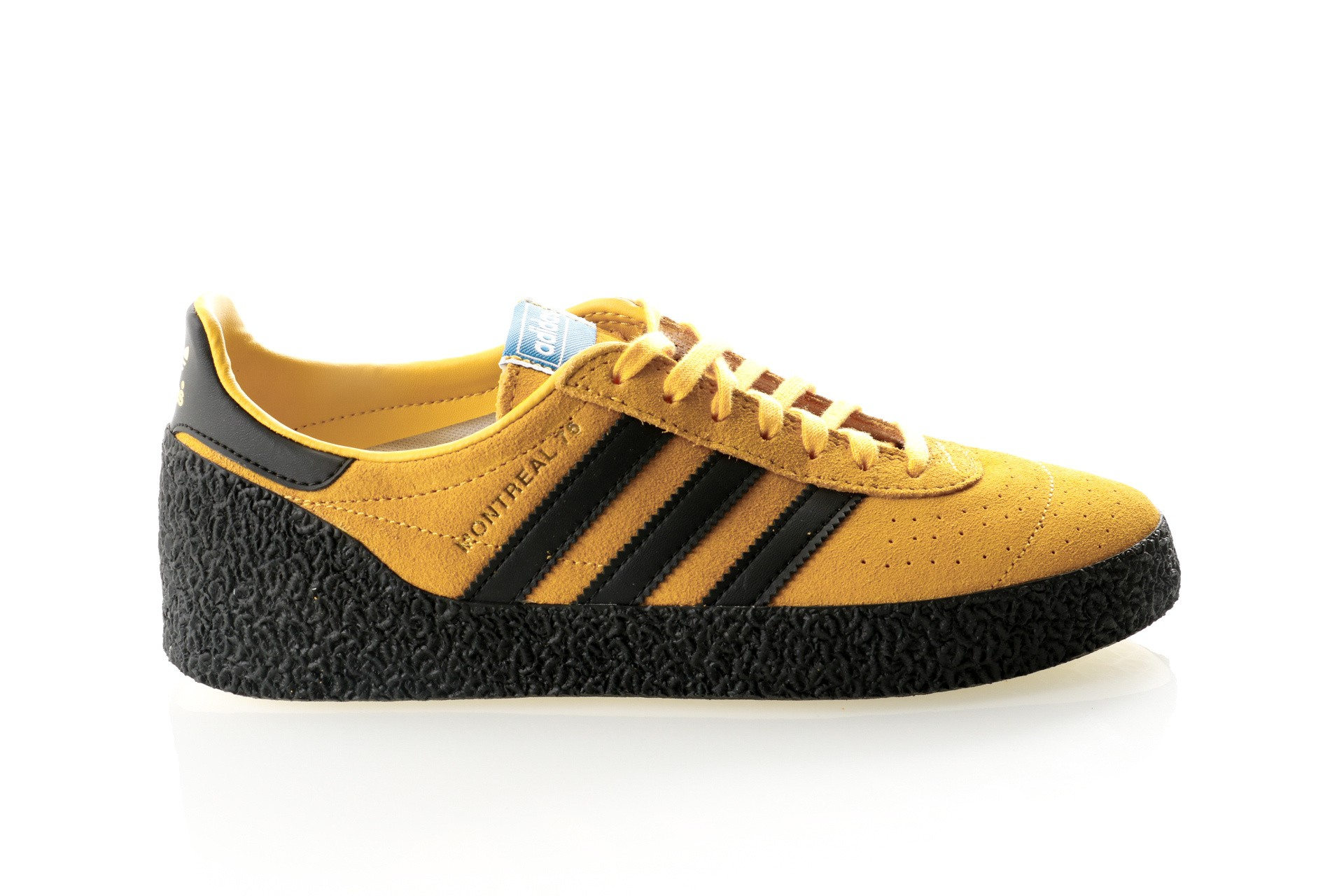 Foto van Adidas MONTREAL 76 BD7635 Sneakers bold gold/core black/cream white