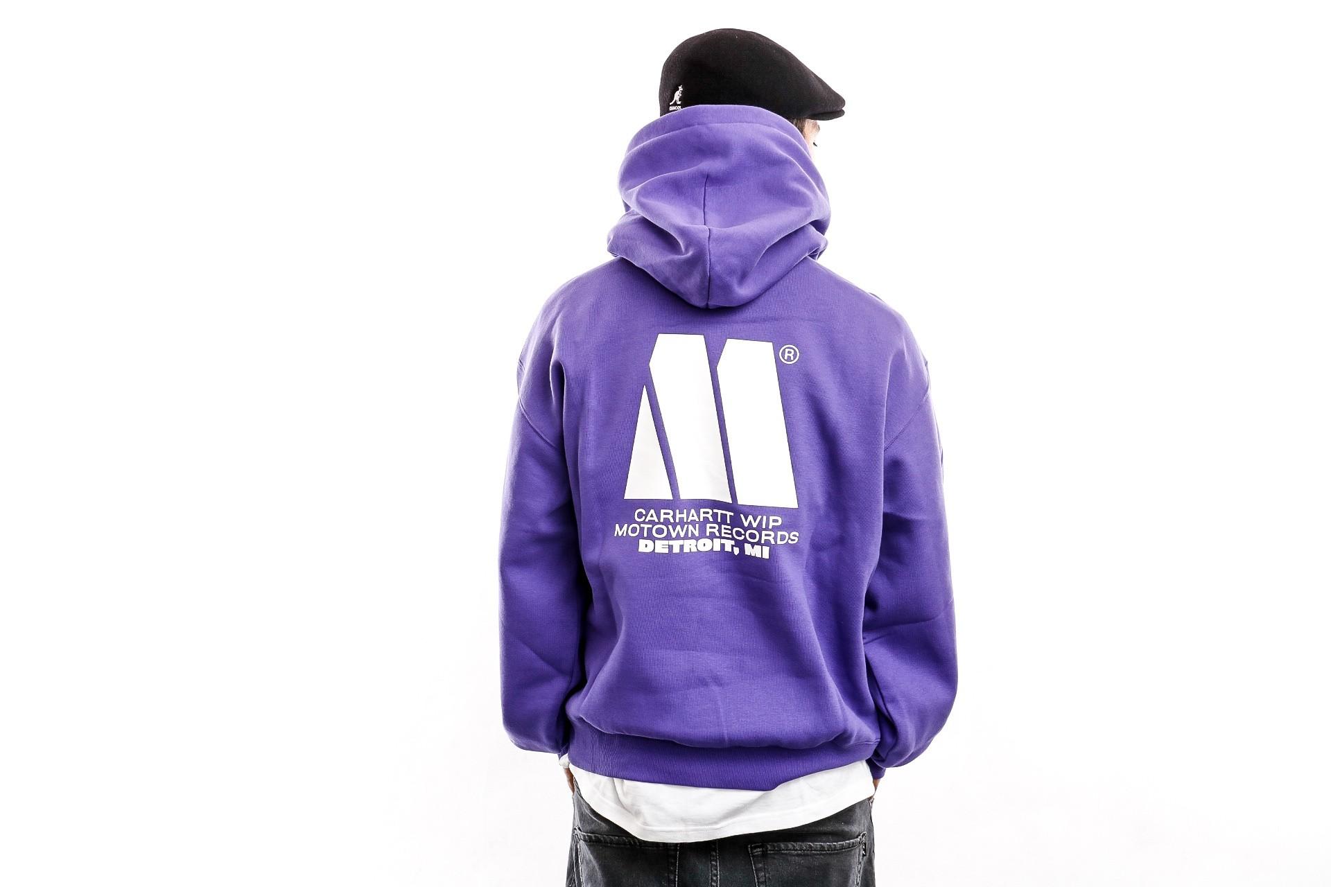 Foto van Carhartt WIP Hooded Hooded Motown Sweat Prism Violet / White I027162