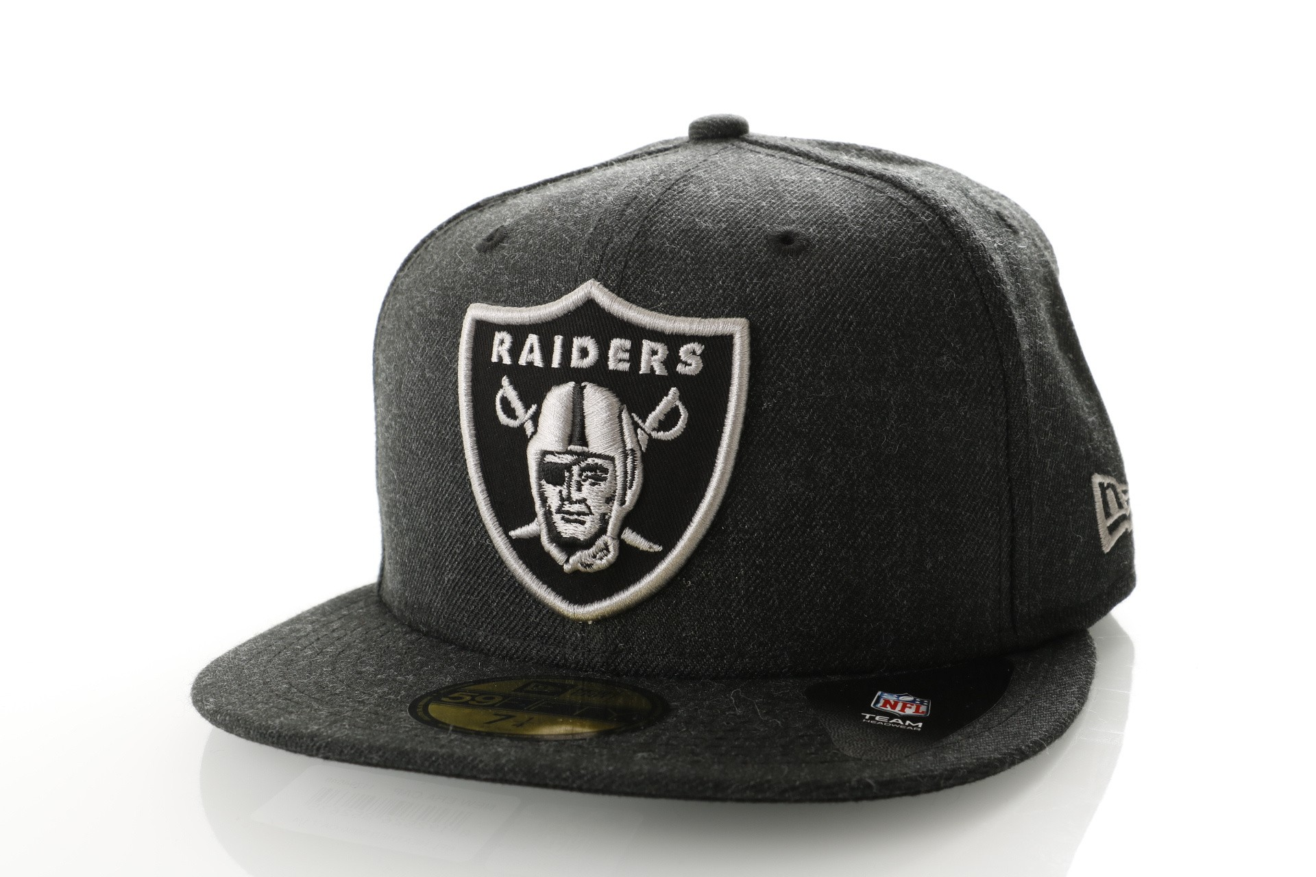 Foto van New Era Nfl Heather 5950 Oakland Raiders 11794648 Fitted Cap Heather Black/Gray/Black Nfl