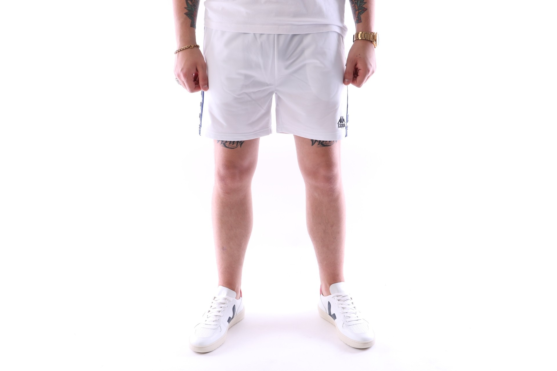 Afbeelding van Kappa 303WHX0-903 Short pant Authentic cole Wit