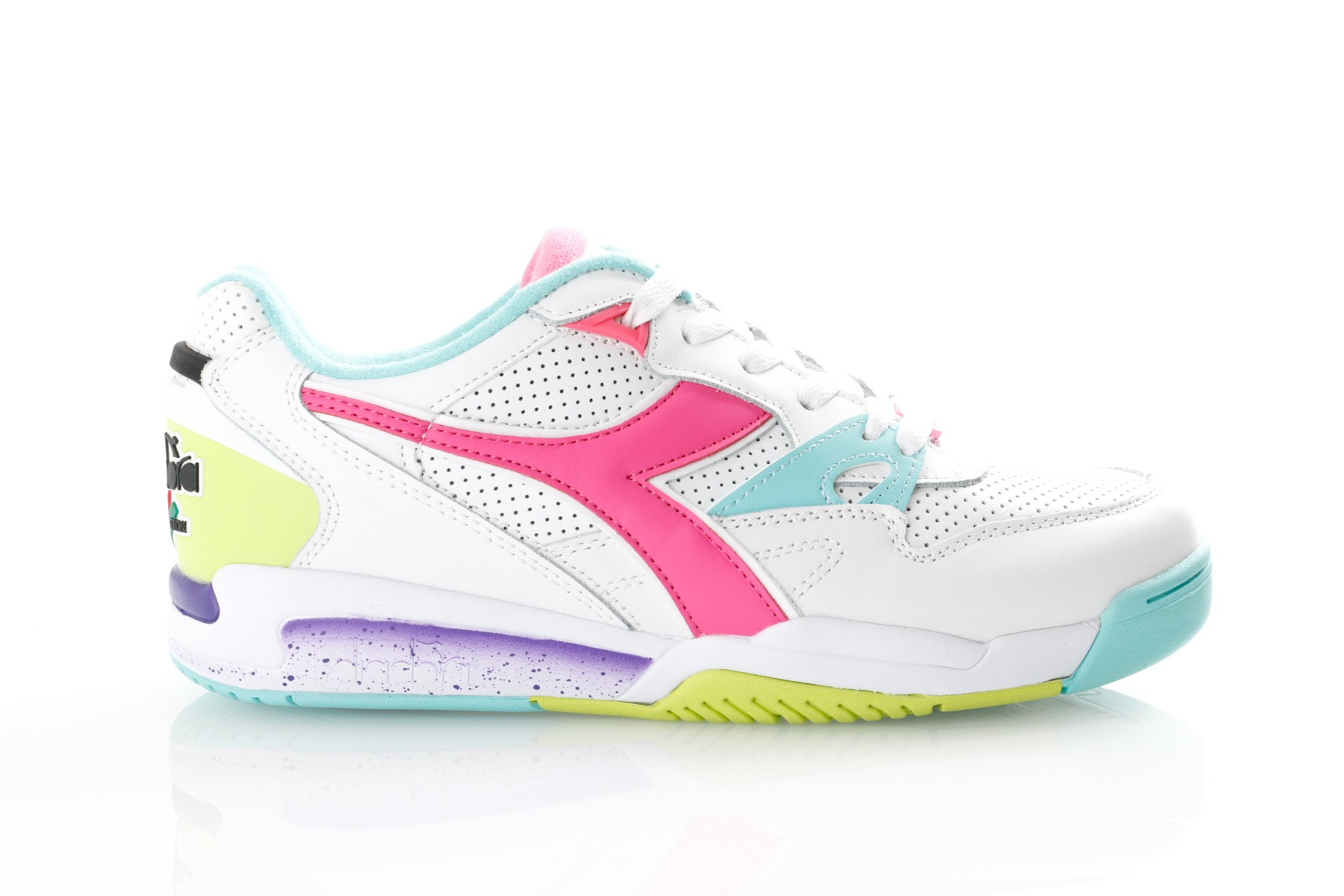 Foto van Diadora Rebound Ace 501173079 Sneakers White / Aruba Blue