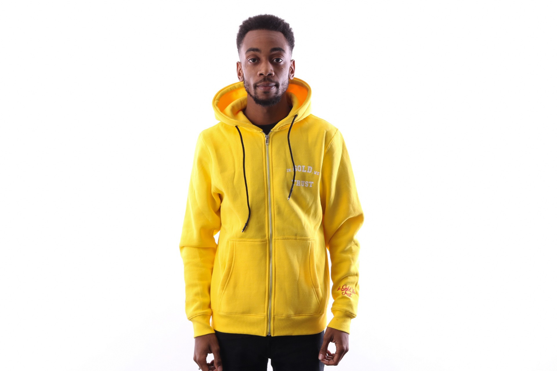 Foto van In Gold We Trust IGWT Zipper Hoodie FAH-056 Hooded zip Yellow