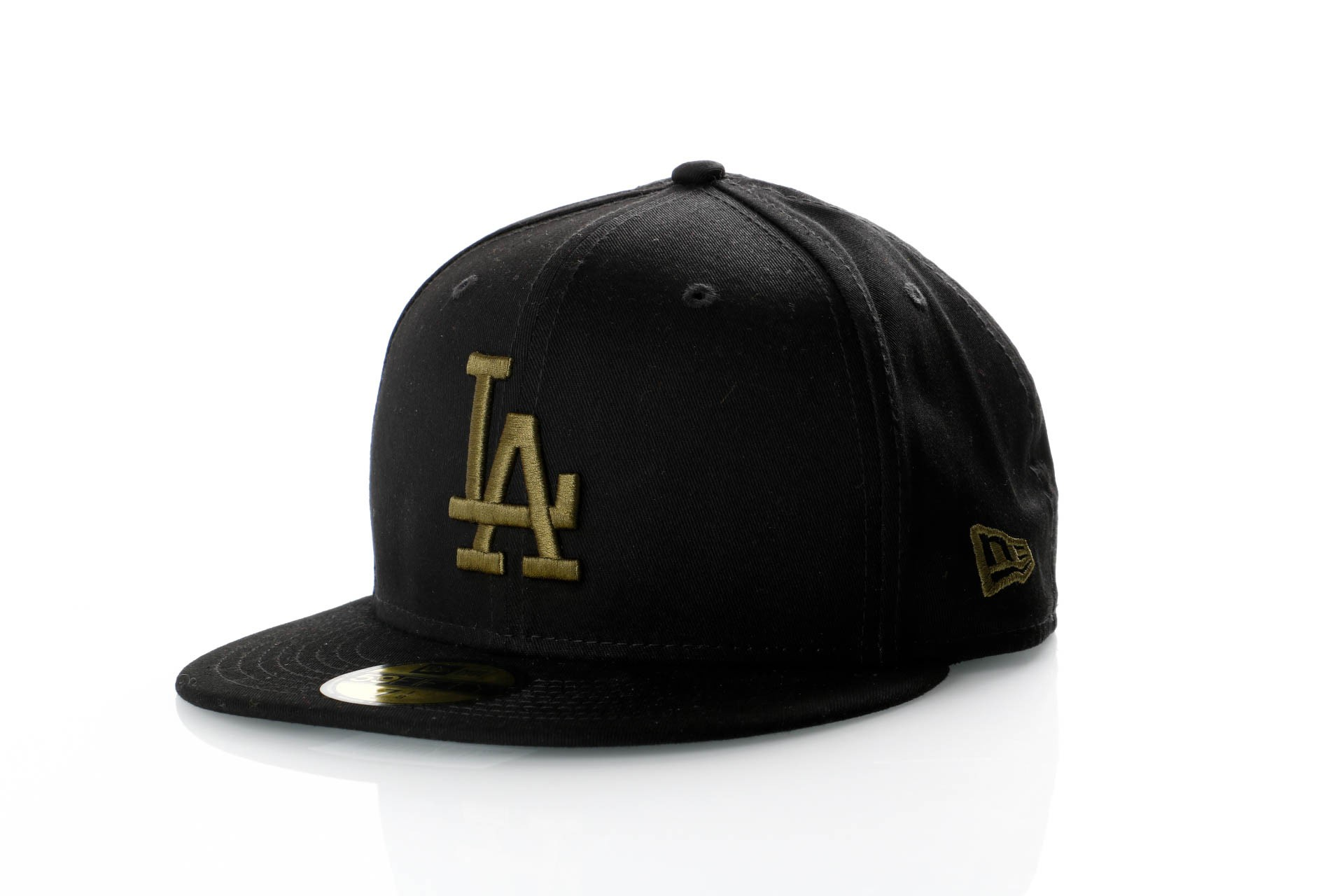 Foto van New Era League Essential 59Fifty 11871513 Fitted Cap Black/New Olive Mlb Los Angeles Dodgers