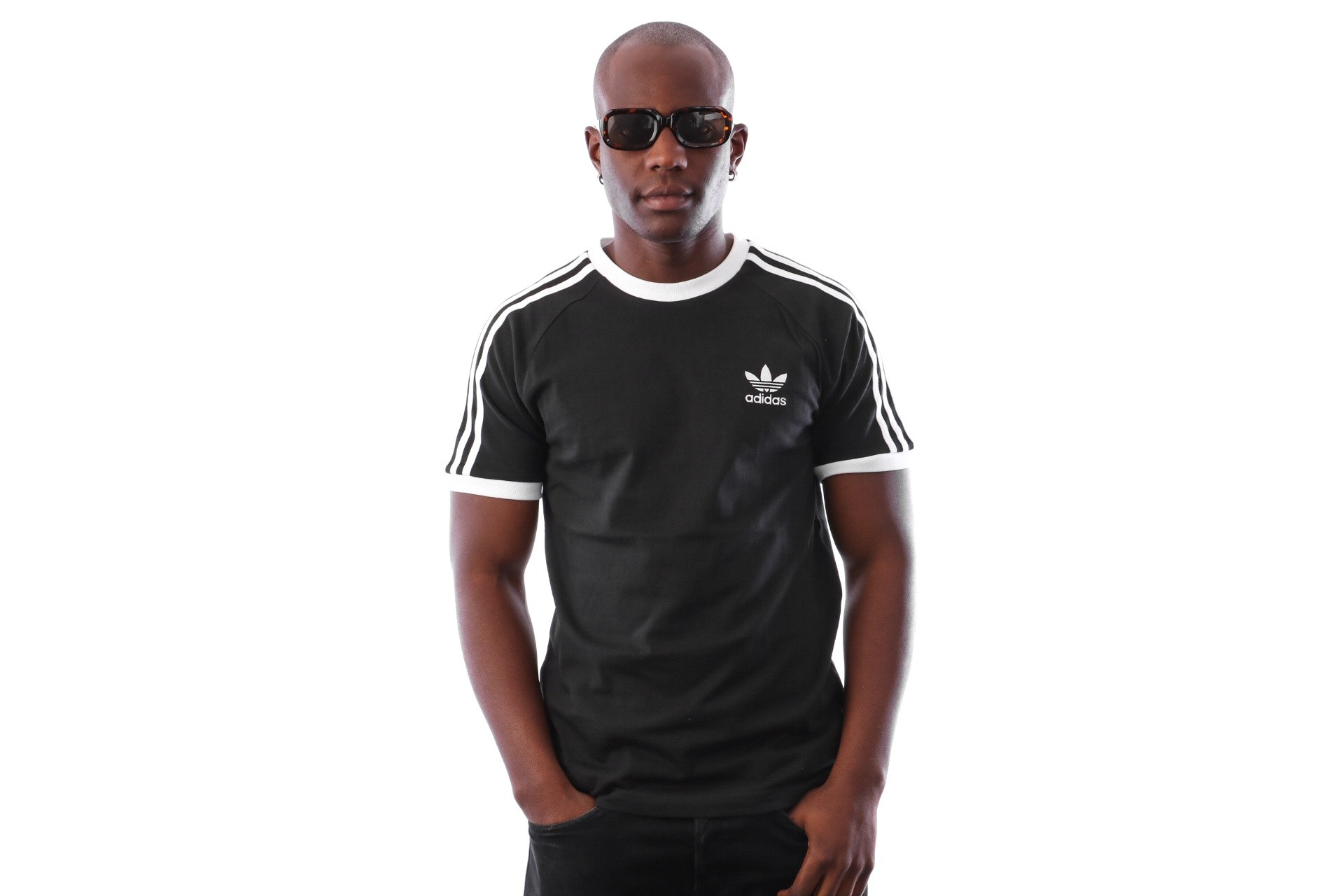 Foto van Adidas 3-Stripes Tee Cw1202 T-Shirt Black
