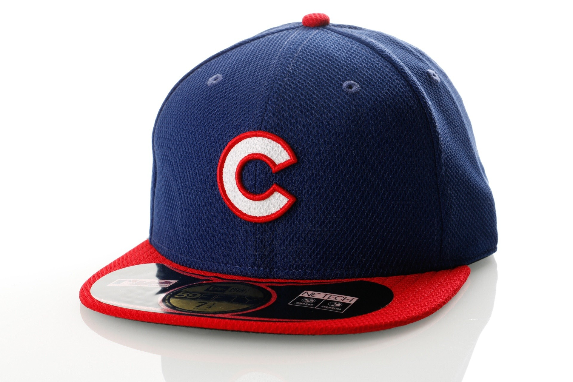 Foto van New Era Diamond Era 21184473 Fitted Cap Royal/Red MLB Chicago Cubbs