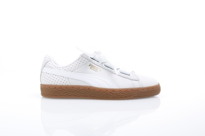 beba203efbe Puma Ladies 366809-01 Sneakers Basket heart perf gum Wit - Go-Britain.nl