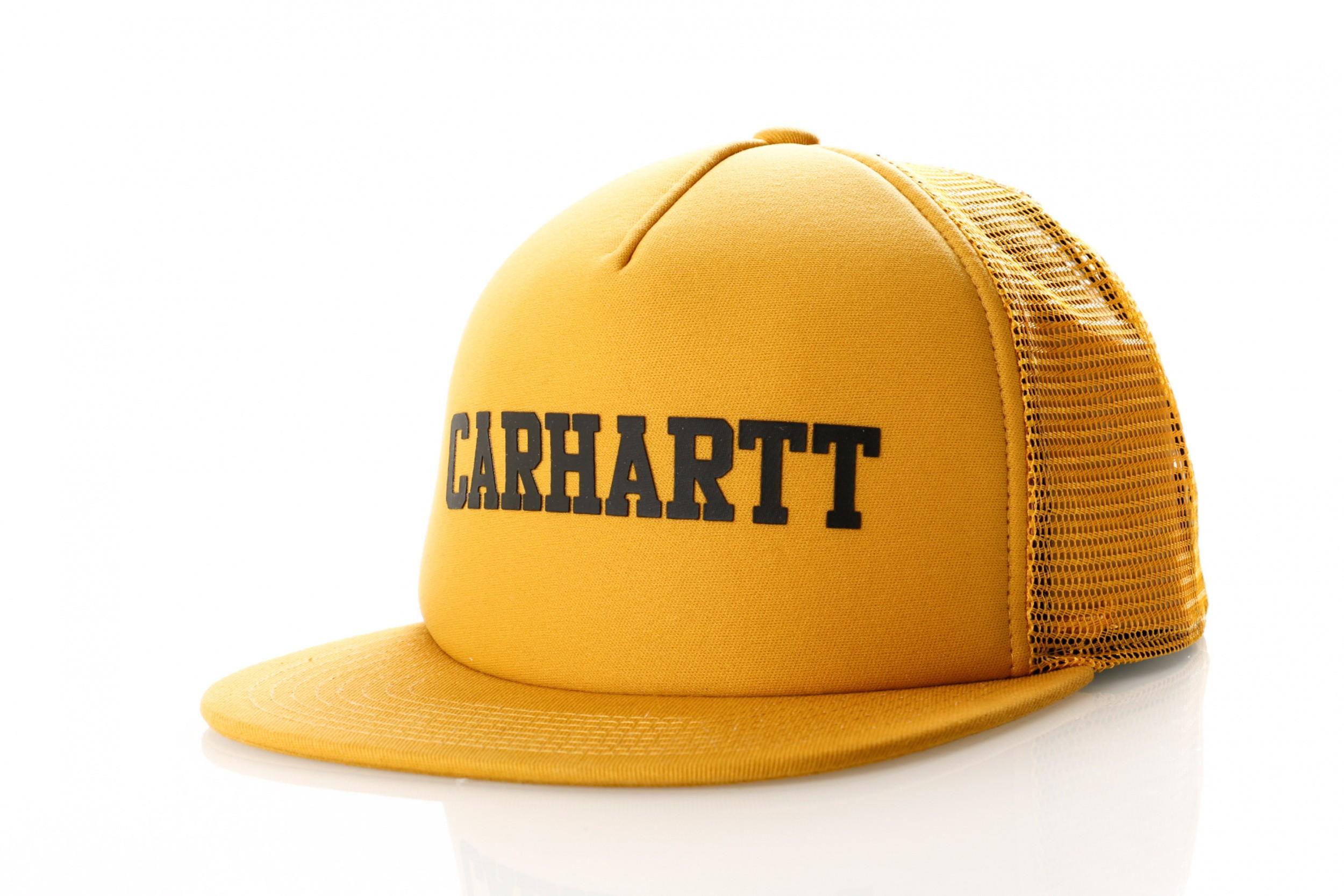 Foto van Carhartt Wip College Trucker Cap I025652 Trucker Cap Colza / Black