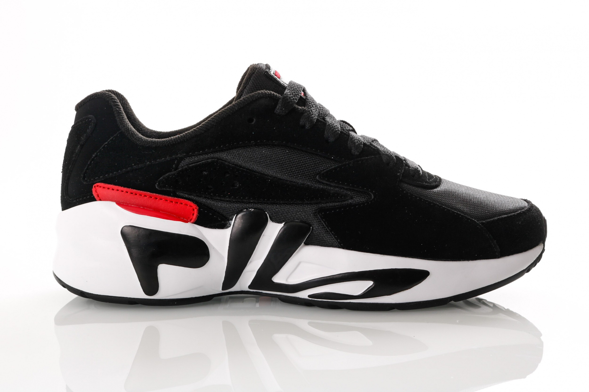 Foto van Fila Mindblower 1010574 Sneakers Black/White/Fila Red