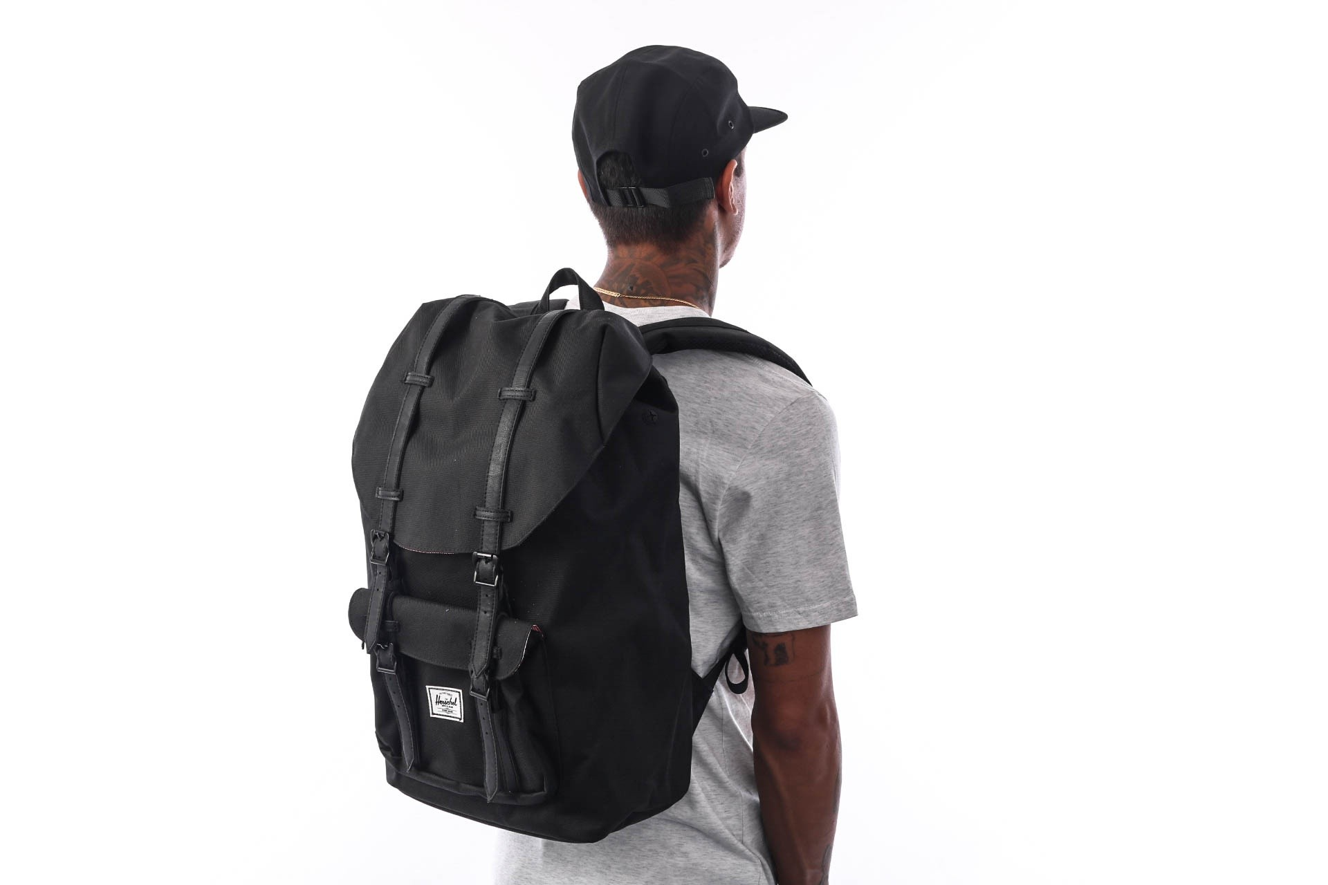 Foto van Herschel Supply Little America 10014-00535-OS Rugzak Black/Black