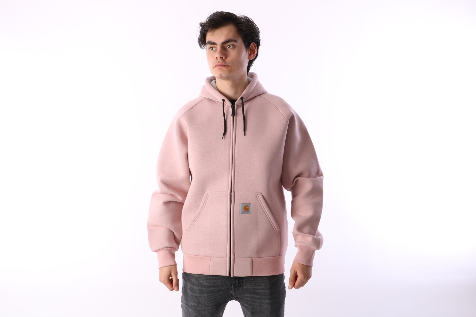 Foto van Carhartt WIP I018044-841 Hooded zip Car-lux Roze