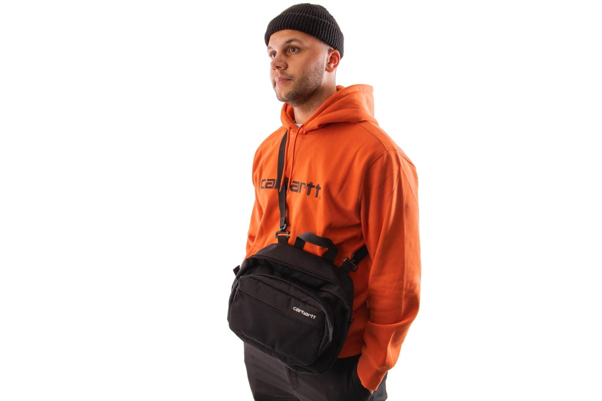 Foto van Carhartt WIP Payton Shoulder Bag I025414 Schoudertas Black / White