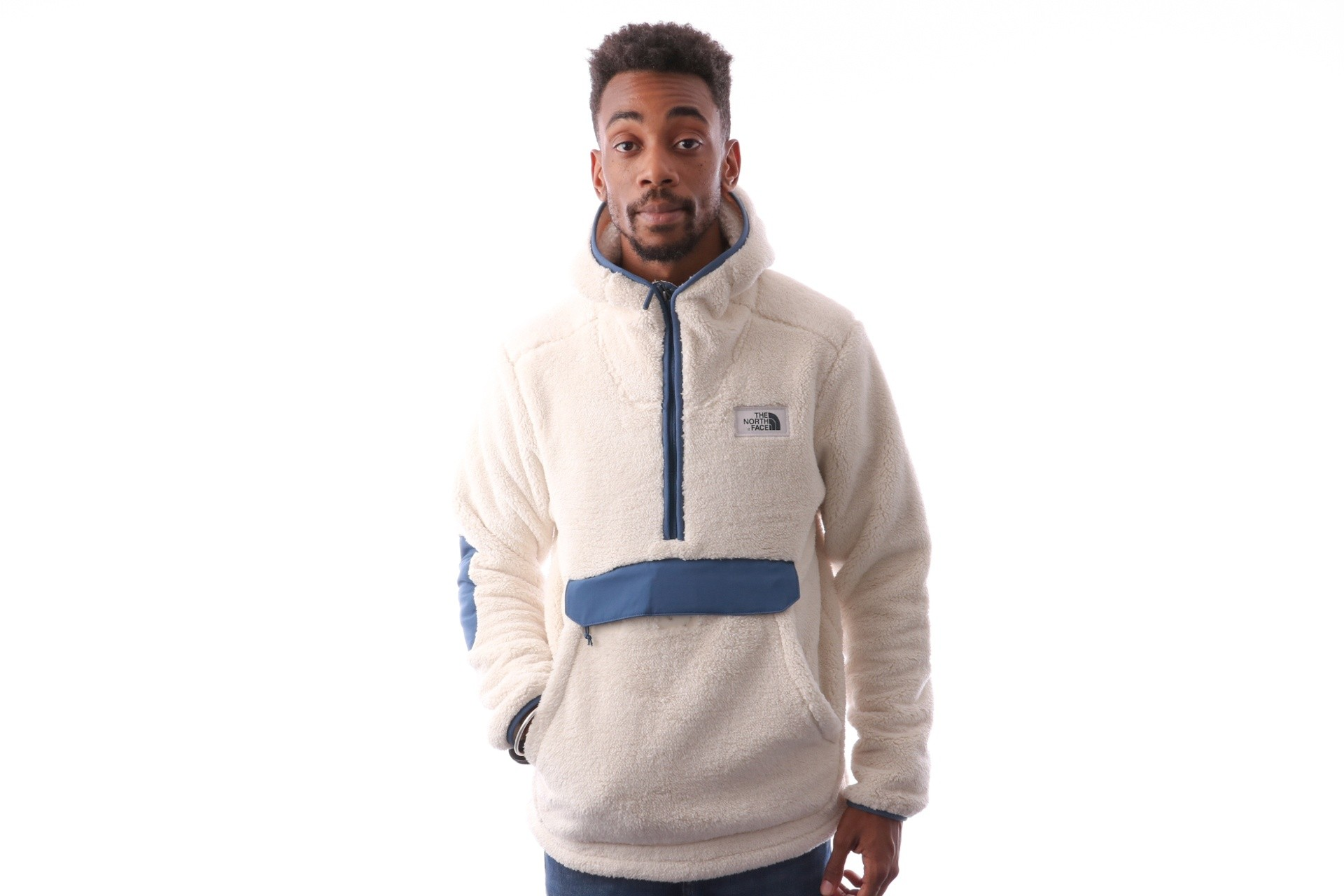 Foto van The North Face M CMPSHR PO HDIE T933QV6MW Hooded VINTAGE WHITE/SHADY BLUE