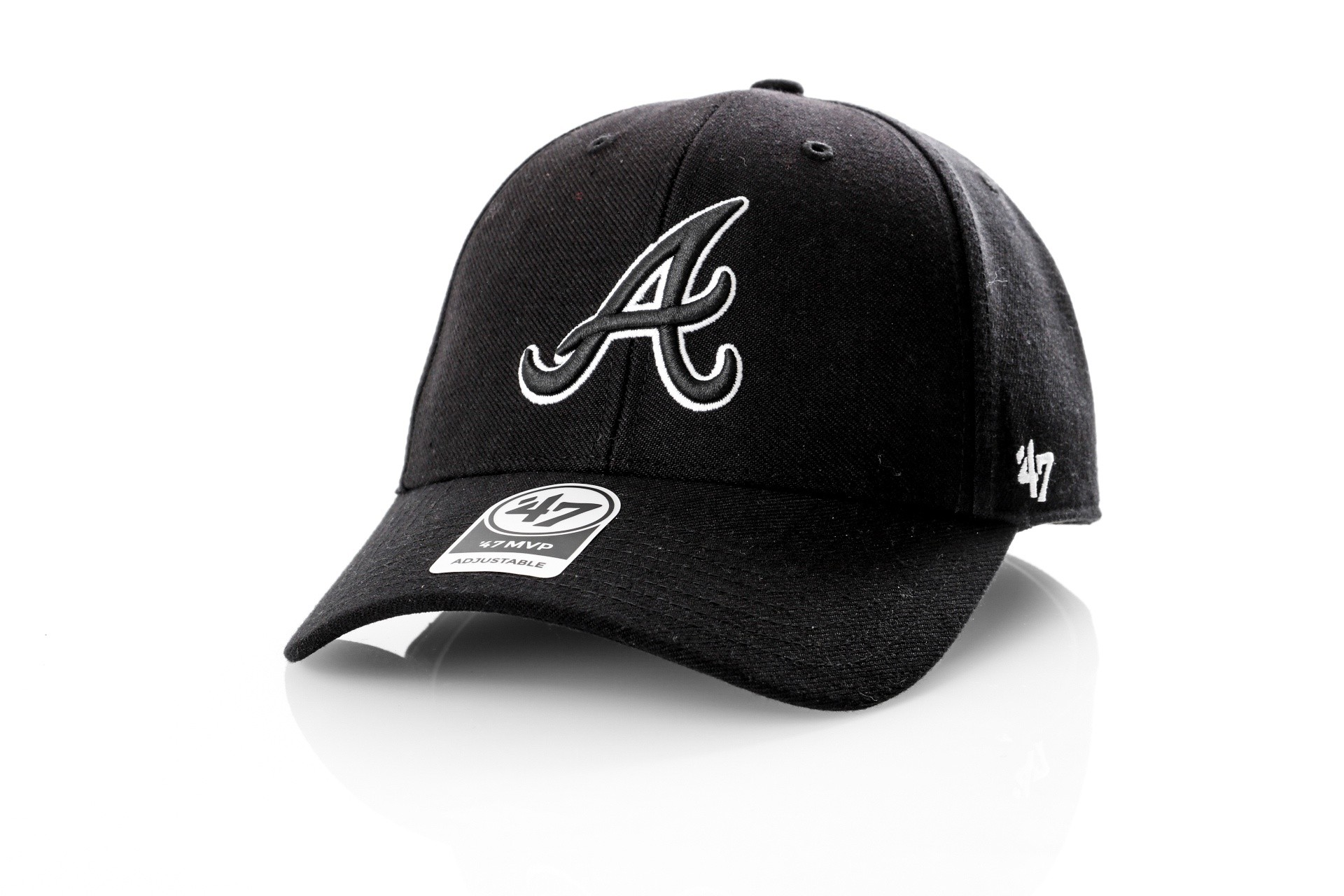 Afbeelding van 47 Brand B-MVPSP01WBP-BK BLACK MLB atlanta braves