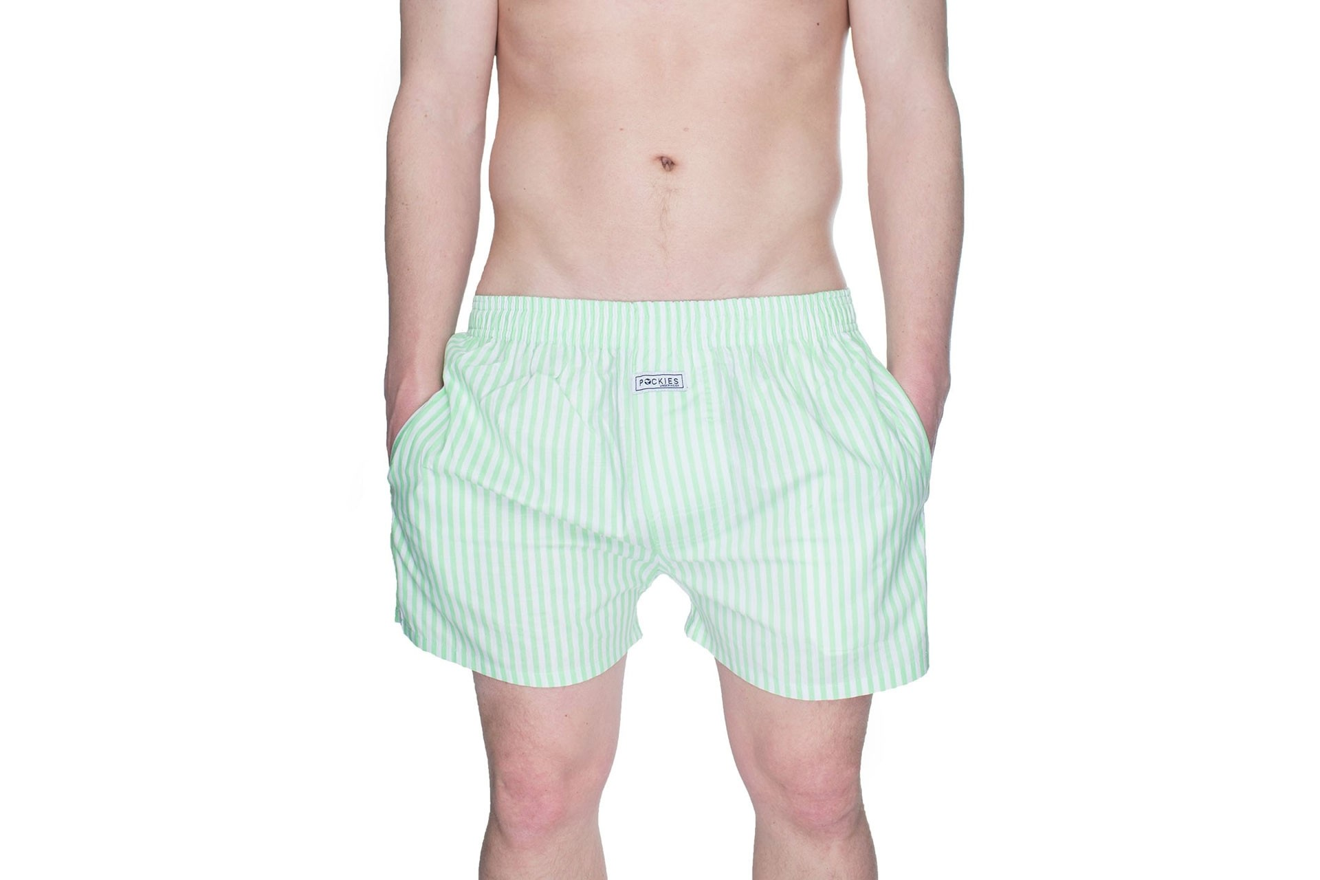 Foto van Pockies Boxershort Mint Stripes Mint