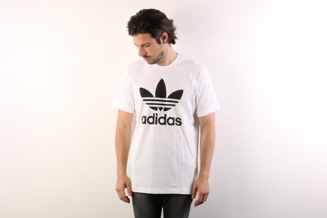 Foto van Adidas Originals AJ8828 T-shirt Original trefoil Wit