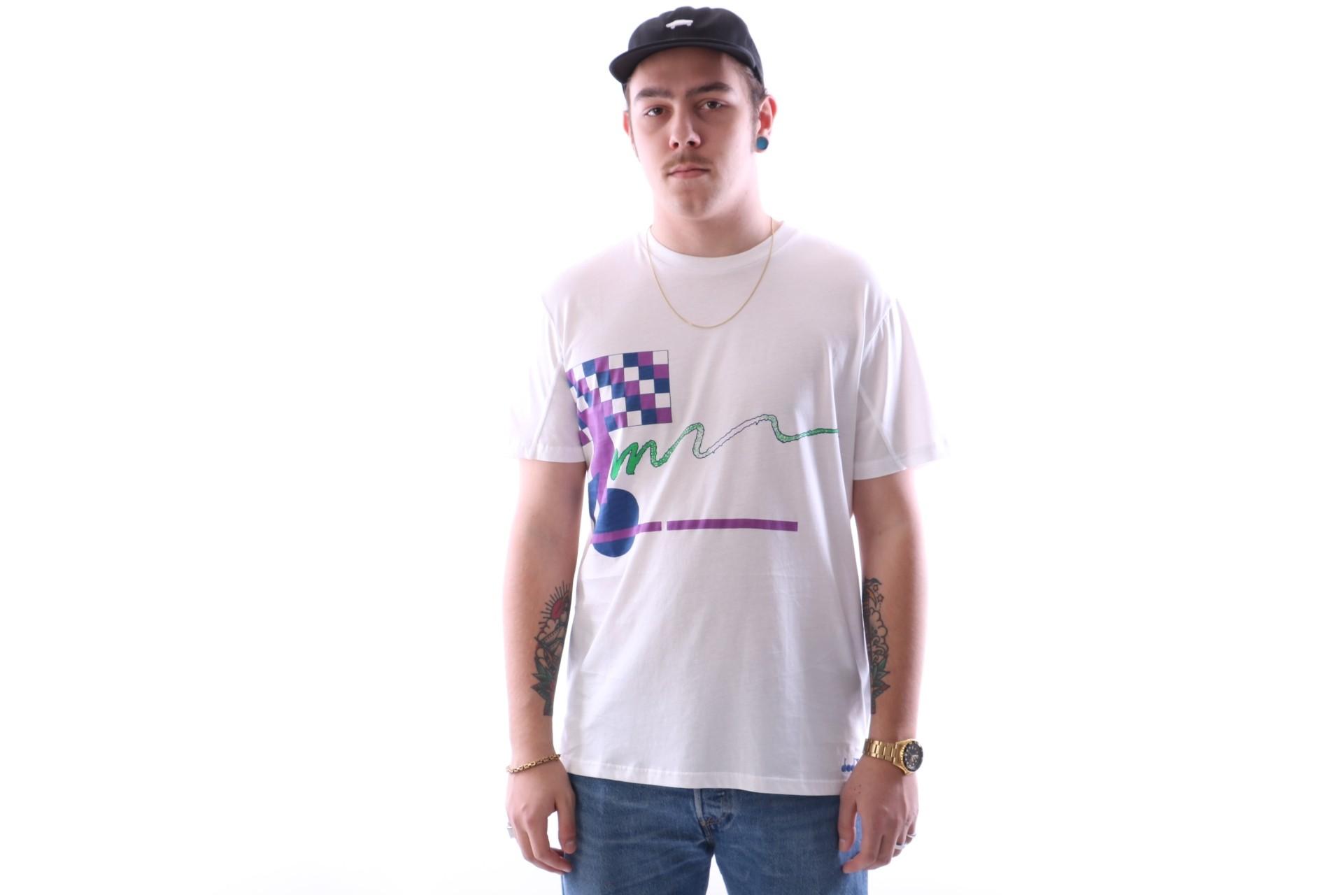 Afbeelding van Diadora 502.161.677-20002 T-shirt Smash Wit