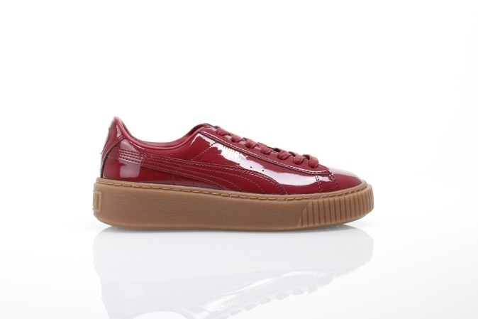 Foto van Puma Ladies 363314-04 Sneakers Basket platform patent Rood