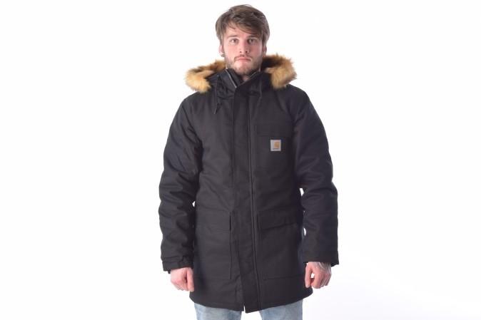 Foto van Carhartt WIP I023086-8900 Jacket winter Siberian parka Zwart