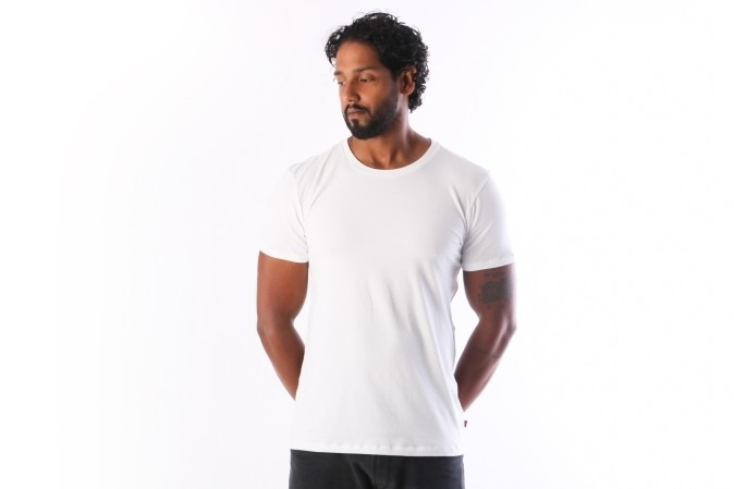 Afbeelding van Levi's Bodywear 972012001-300 T-shirt 200SF crew 2-pack Wit