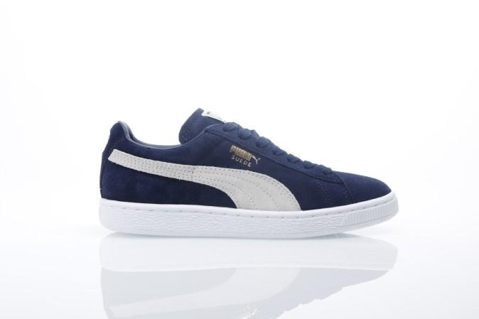 Foto van Puma 356568-51 Sneakers Suede classic+ Blauw