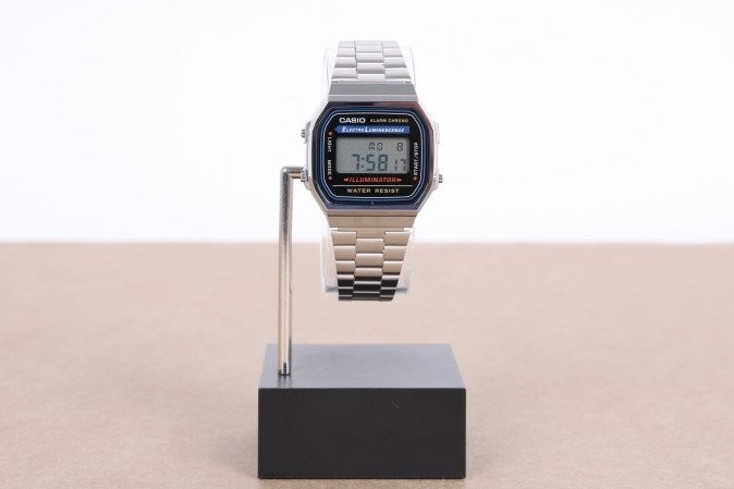 Foto van Casio Vintage A168WA-1YES Watch A168WA Zilver