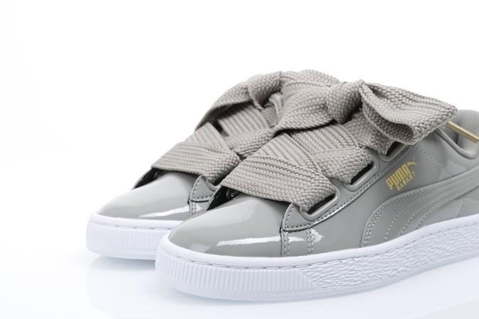 Puma Ladies 363073-12 Sneakers Basket heart patent Grijs - Go-Britain.nl 9404e0f4ac