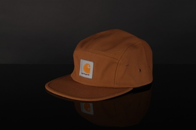 Foto van Carhartt WIP I016607-HZ00 Strapback cap Backley Hamilton brown