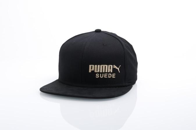 Foto van Puma 21489-1 Strapback cap Archive suede Zwart