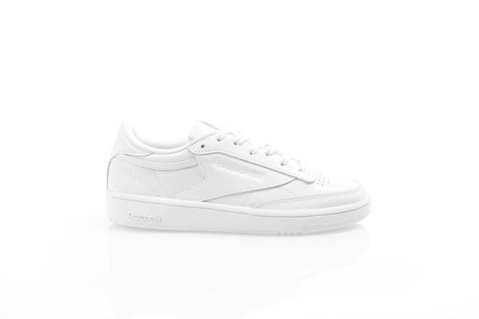 Foto van Reebok Ladies BS9776 Sneakers Club c85 patent Wit