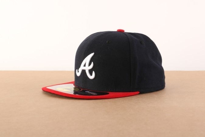 Afbeelding van New Era 10010240 Fitted cap Authentic Atlanta Braves Blauw