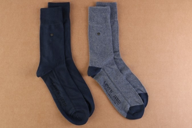 Foto van Levi's Bodywear 943004001-824 Socks 168SF regular cut 2-pack Blauw