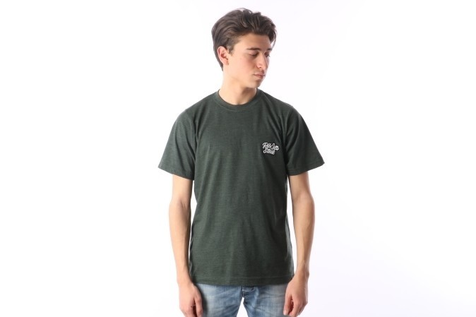 Foto van Rib.Eye.Steak RES-FW17-009 T-shirt Script Groen