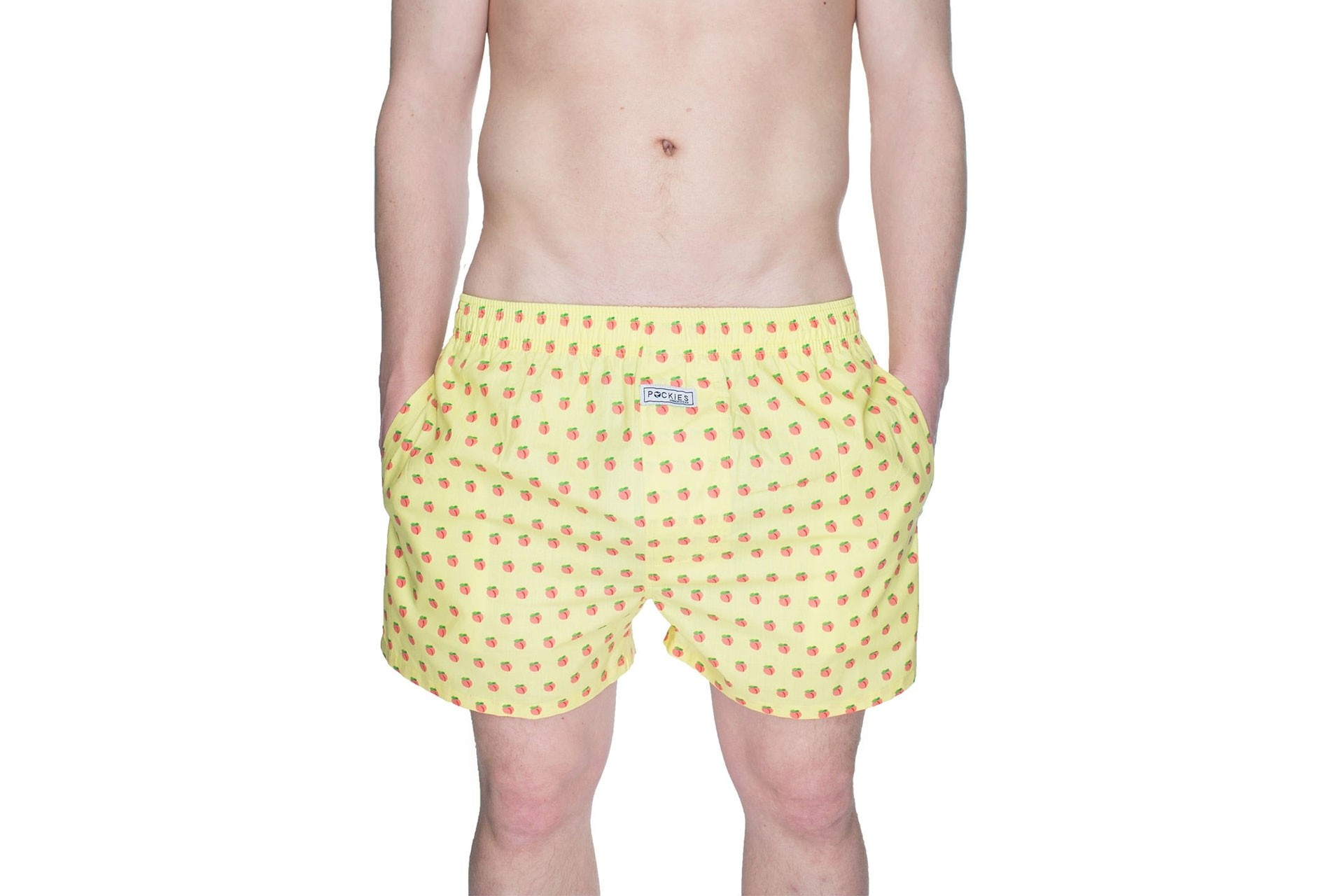 Foto van Pockies Boxershort Peaches Yellow - Orange