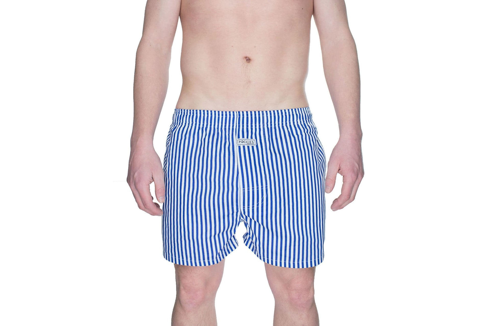 Foto van Pockies Boxershort Navy Stripes Blue