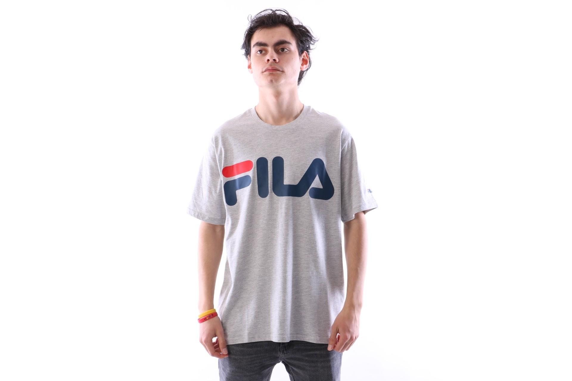 Foto van Fila 680427-J42 T-shirt Classic logo Grijs