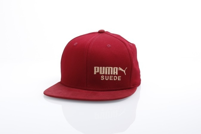 Foto van Puma 21489-2 Strapback cap Archive suede Rood