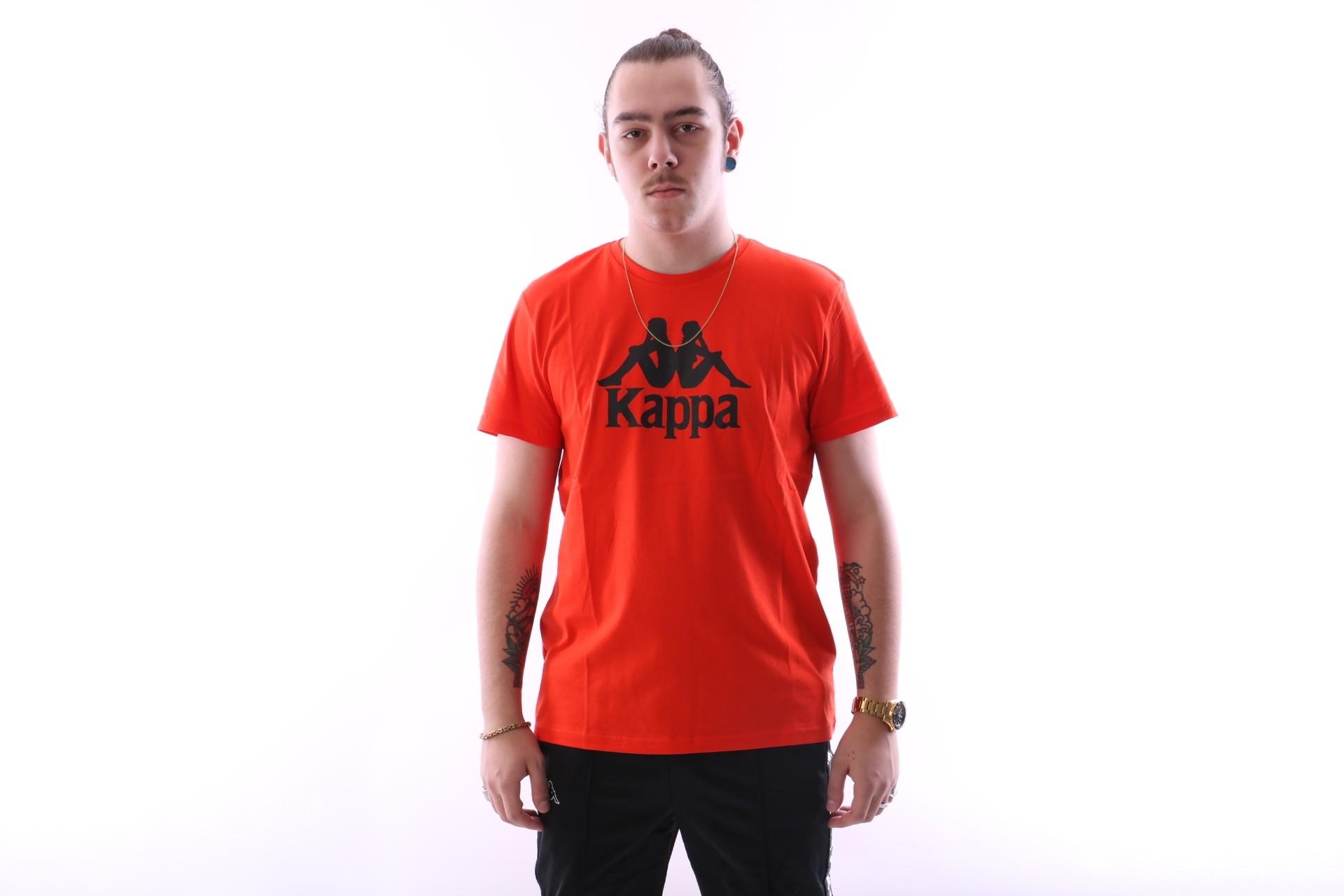 Foto van Kappa 303LRZO-Q17 T-shirt Authentic Estessi Red/orange
