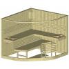Afbeelding 3 van Azalp Sauna Runda 237x220 cm espen