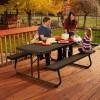 Afbeelding 3 van Lifetime Opvouwbare picknicktafel