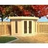 Bild 2 von Azalp Blockhaus Dario 400x400 cm, 45 mm