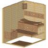 Afbeelding 22 van Azalp Massieve sauna Genio 150x200 cm, 45 mm