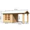 Afbeelding 3 van Woodfeeling Tastrup 3 met terrasoverkapping (73270)