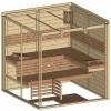 Afbeelding 44 van Azalp Massieve sauna Genio 200x200 cm, 60 mm