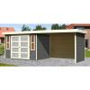 Afbeelding van Woodfeeling Leuven 4 met veranda 280 cm Terragrijs