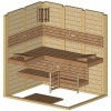 Afbeelding 44 van Azalp Massieve sauna Genio 190x150 cm, 45 mm