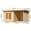 Afbeelding 2 van Woodfeeling Kandern 3 met veranda 240 cm (82994)