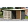 Afbeelding van Woodfeeling Leuven 2 met veranda 240 cm Terragrijs