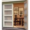 Afbeelding 3 van Woodfeeling Leuven 4 met veranda 280 cm Terragrijs