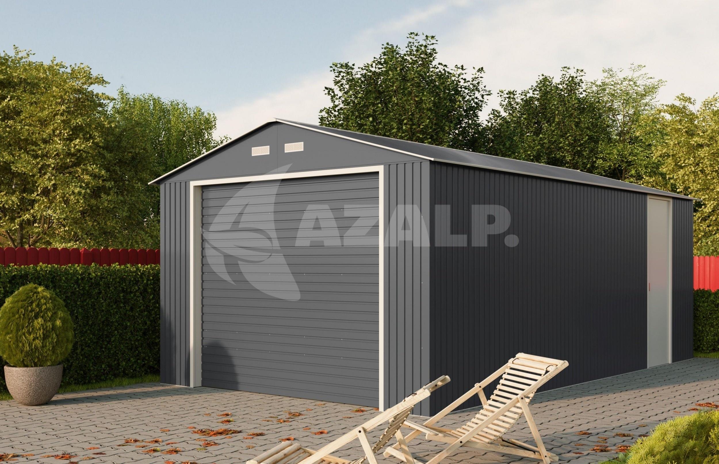 Kachel Voor Garage : Duramax garage 12x20 b antraciet kopen bij azalp.nl