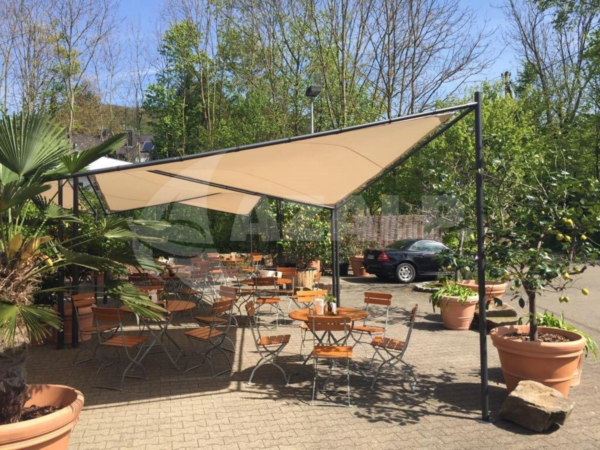Schaduwdoek 4 X 6.Orange Outdoor Schaduwdoek Sorara 4 X 4 M Butterfly Beige Grijs